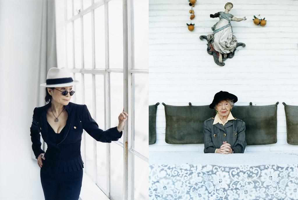 Yoko Ono Künstlerin und Inge Meysel – Tom Haller Zürich